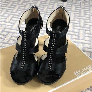 Michael Kors black jeweled heels